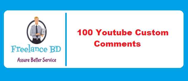 Instantly Get 100 YouTube Custom Comments In 1-5 Hours