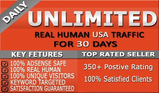 Get 1,000+ Daily Human Traffic for ONE MONTH from High DA & PA sites