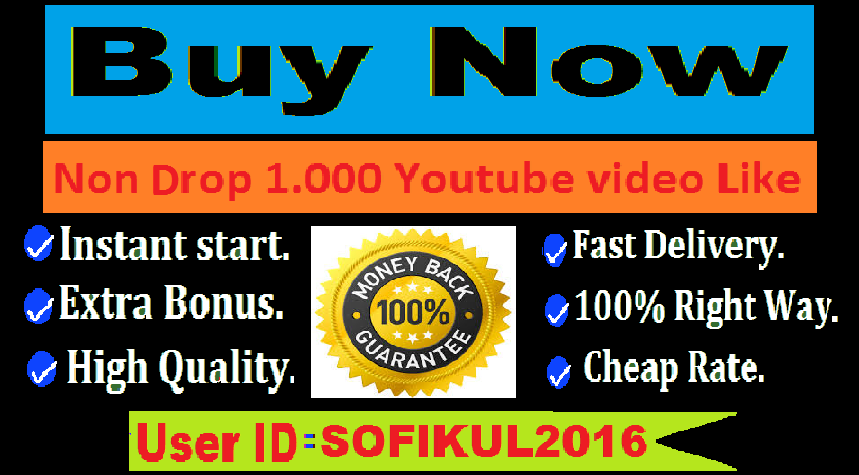 Instant start 1.000 Youtube video Like super fast