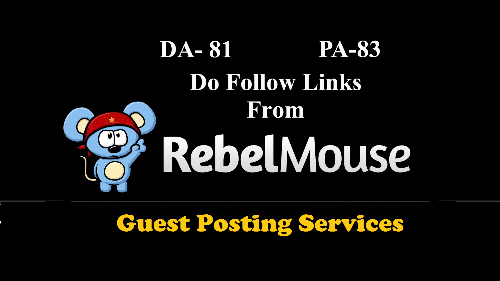 provide you Guest Post on RebelMouse with DA 81