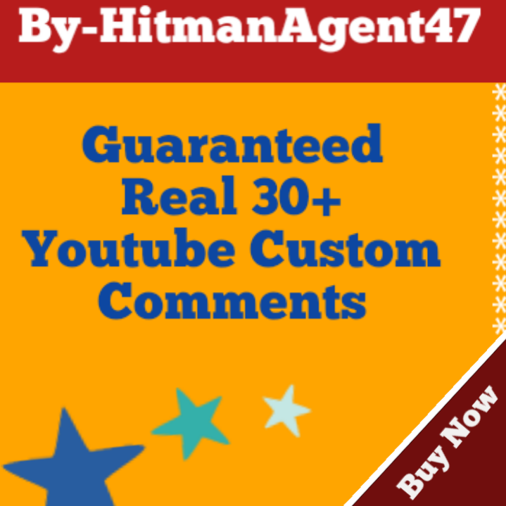 Guaranteed 30+ Youtube Custom Comm ents Fast Non Drop