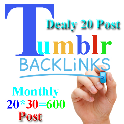 Ranking Your Website /Blog /Service from Tumblr Blogs Every day 1 hours 20 post 30 Day
