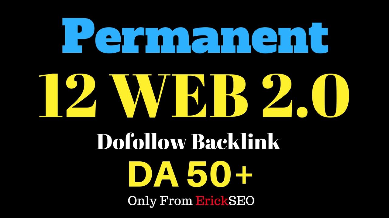12 Web 2.0 Blog Post Backlinks DA50+