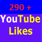 290+ youtube video likes non drop and very fast in completed