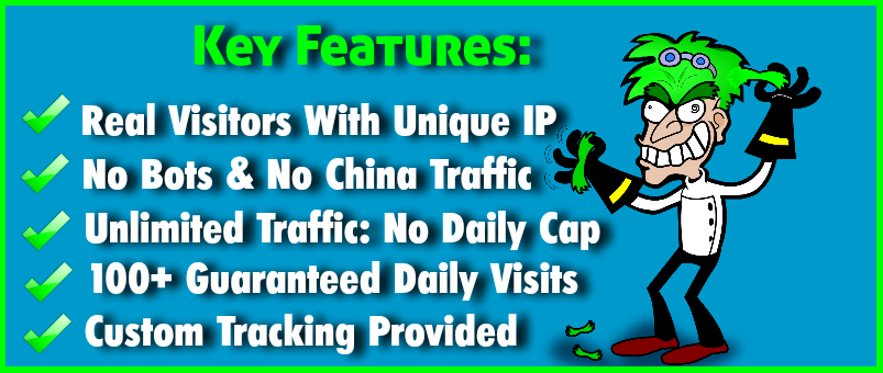 UNLIMITED WEBSITE TRAFFIC for LIFE TIME REAL PEOPLE