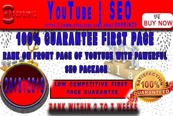 GUARANTEE YOUTUBE FIRST PAGE OR FULL REFUND YOUR YOUT...