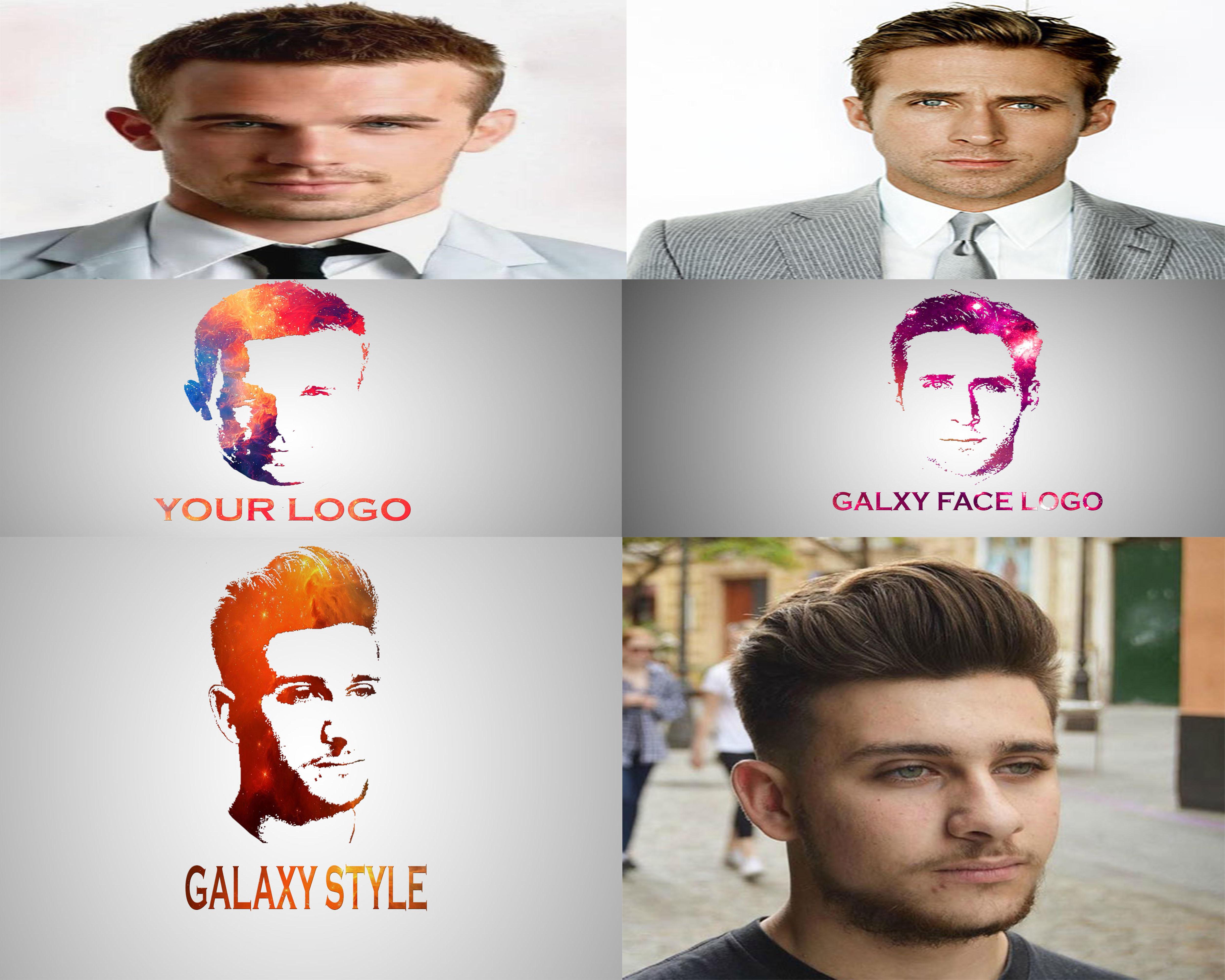 I'LL make an eye catching galaxy face LOGO