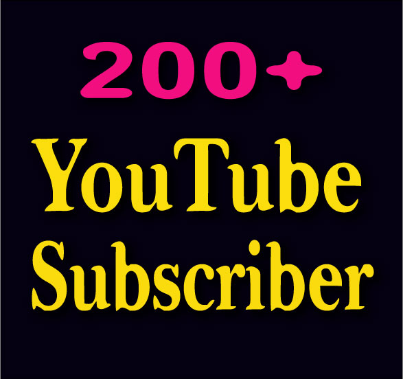 Get 200 YouTube Channel Subscr'ibers