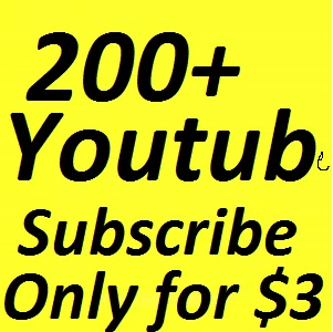 200 + Real active youtube channel subscribers on your YouTube Video  Or 150 Youtube Auto Comment Give You