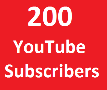 Provide 200+  Youtube Real subscribers