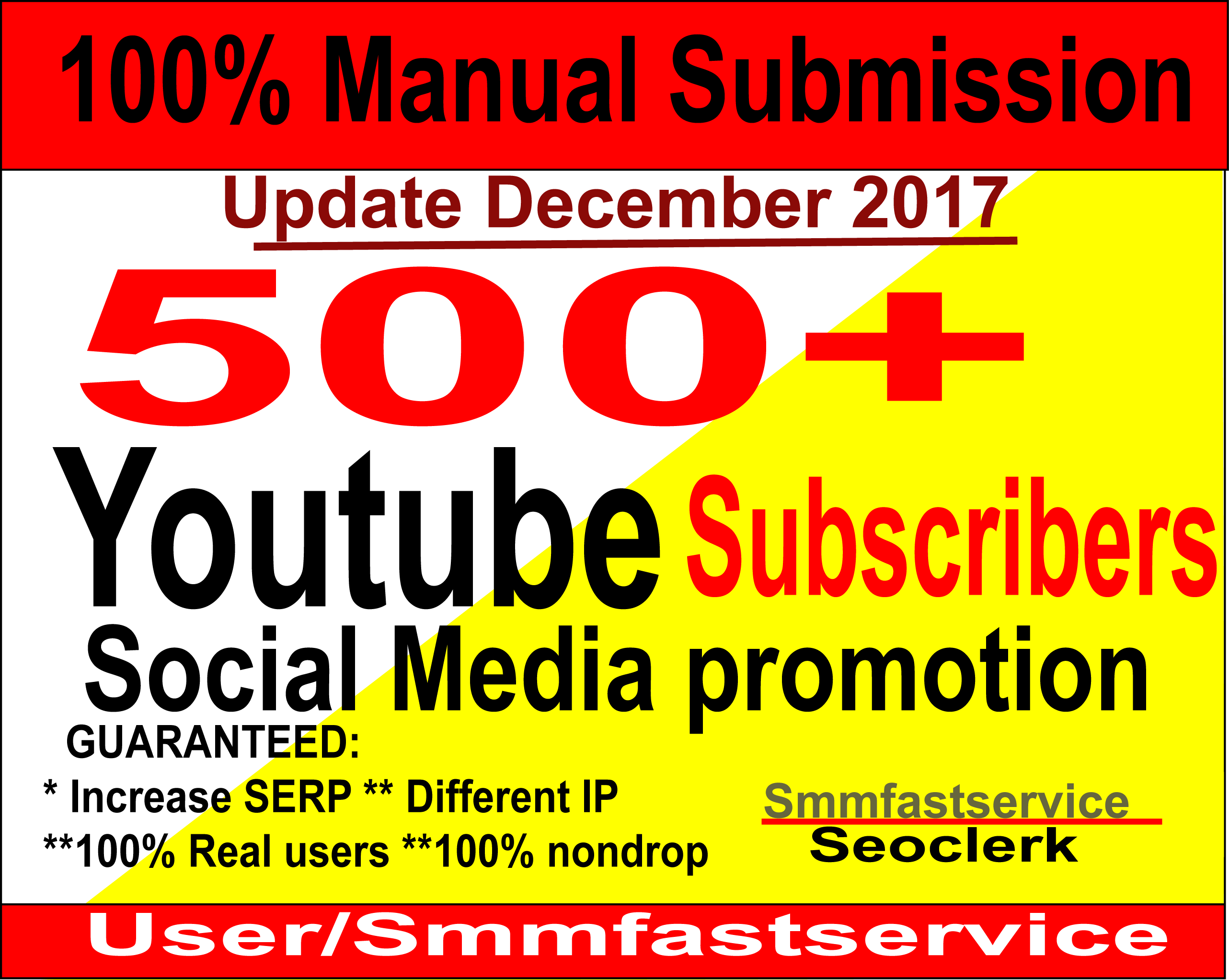 Supper fast Instant Start 500+ Youtube Real & active Subscribers or 2000 Youtube video like