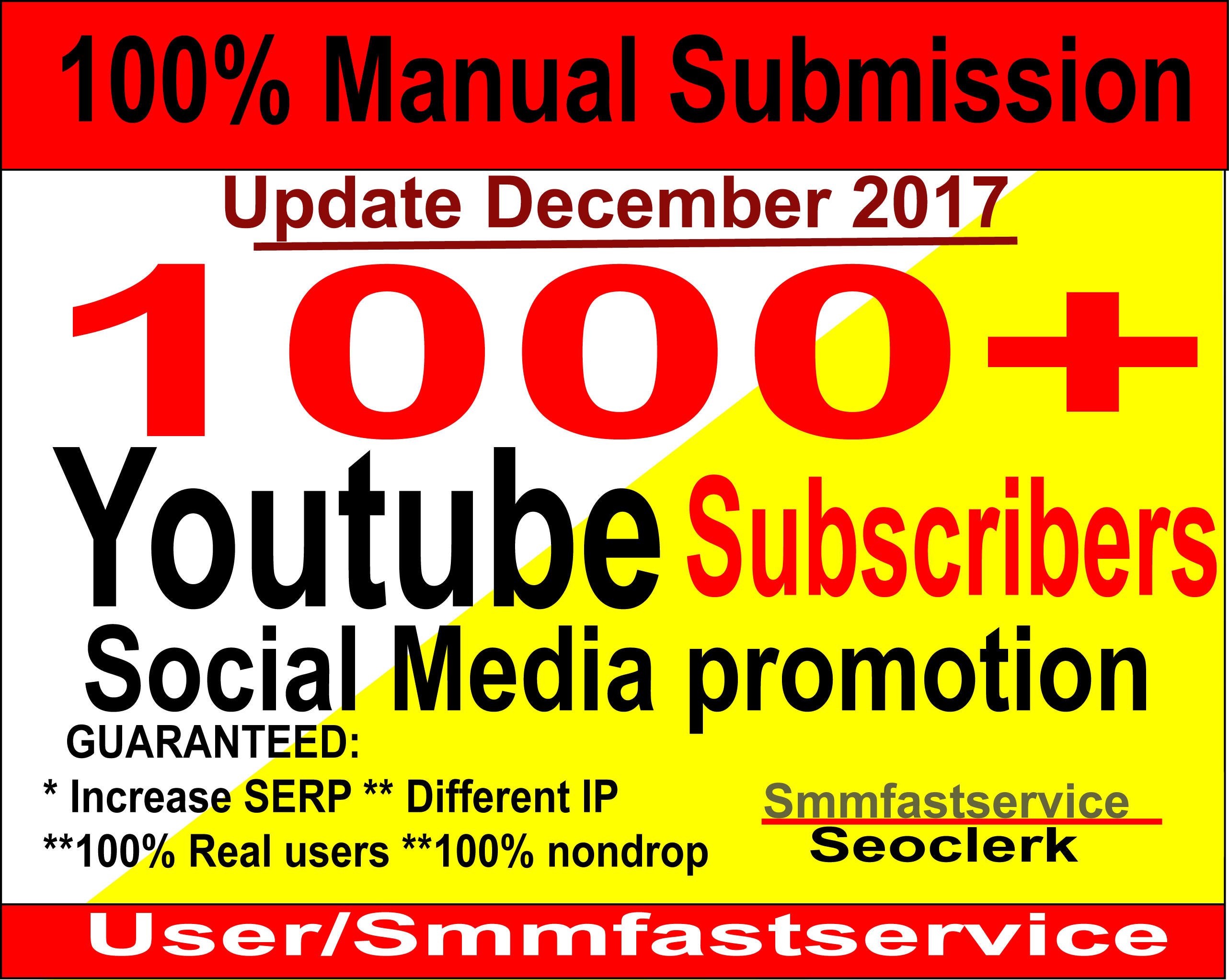 Supper fast Instant Start 1000+ Youtube Real & active Subscribers or 2000 Youtube video like