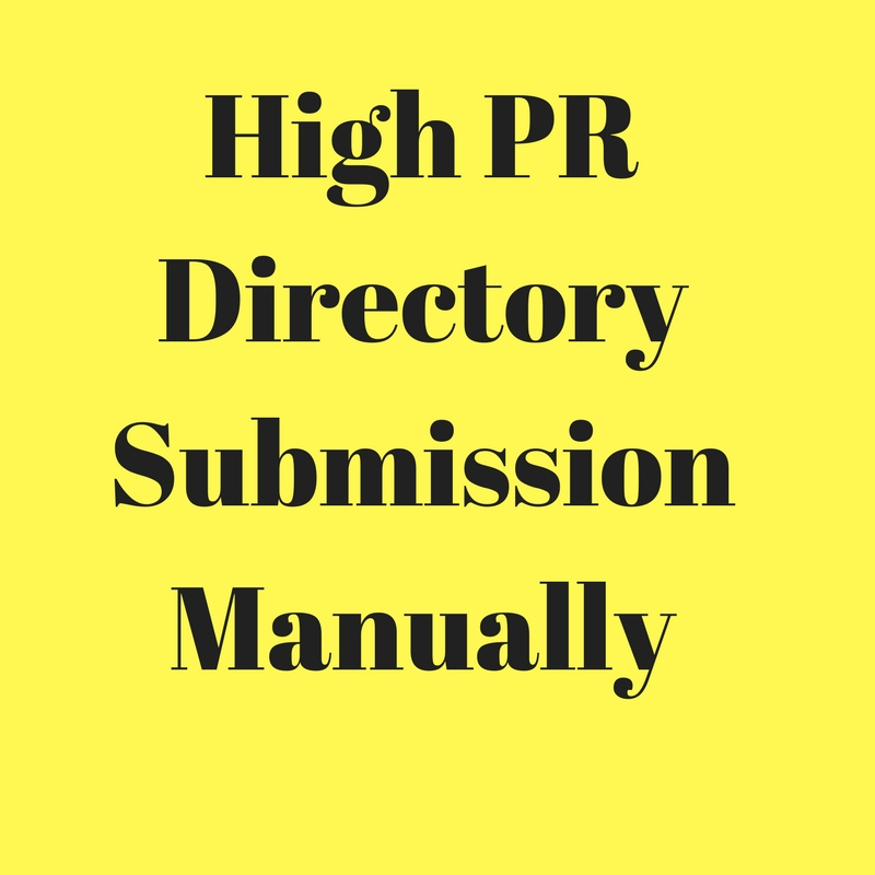 Do 50 High PR Directory Submission Backlinks,  Manually