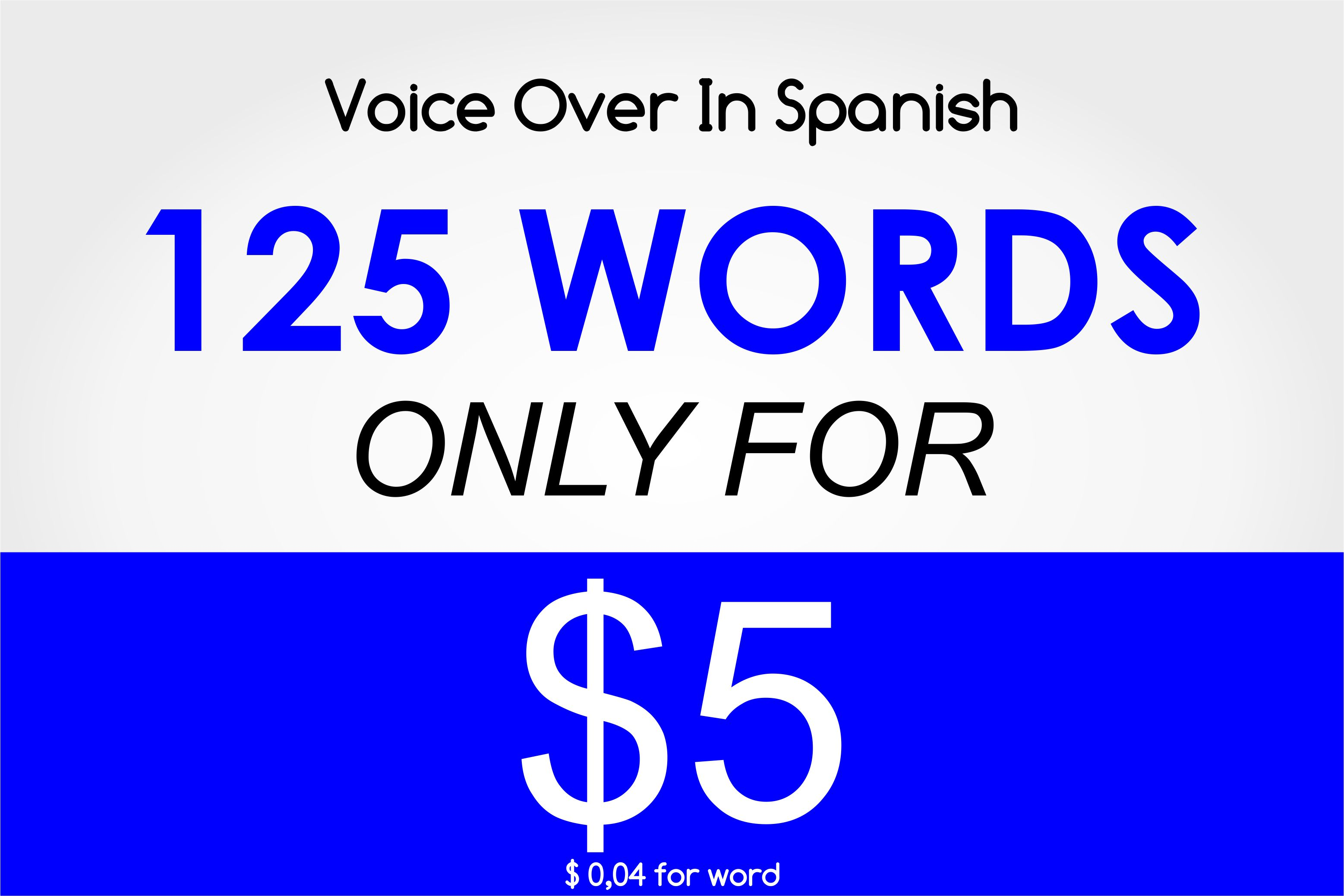 Voice Over In Spanish