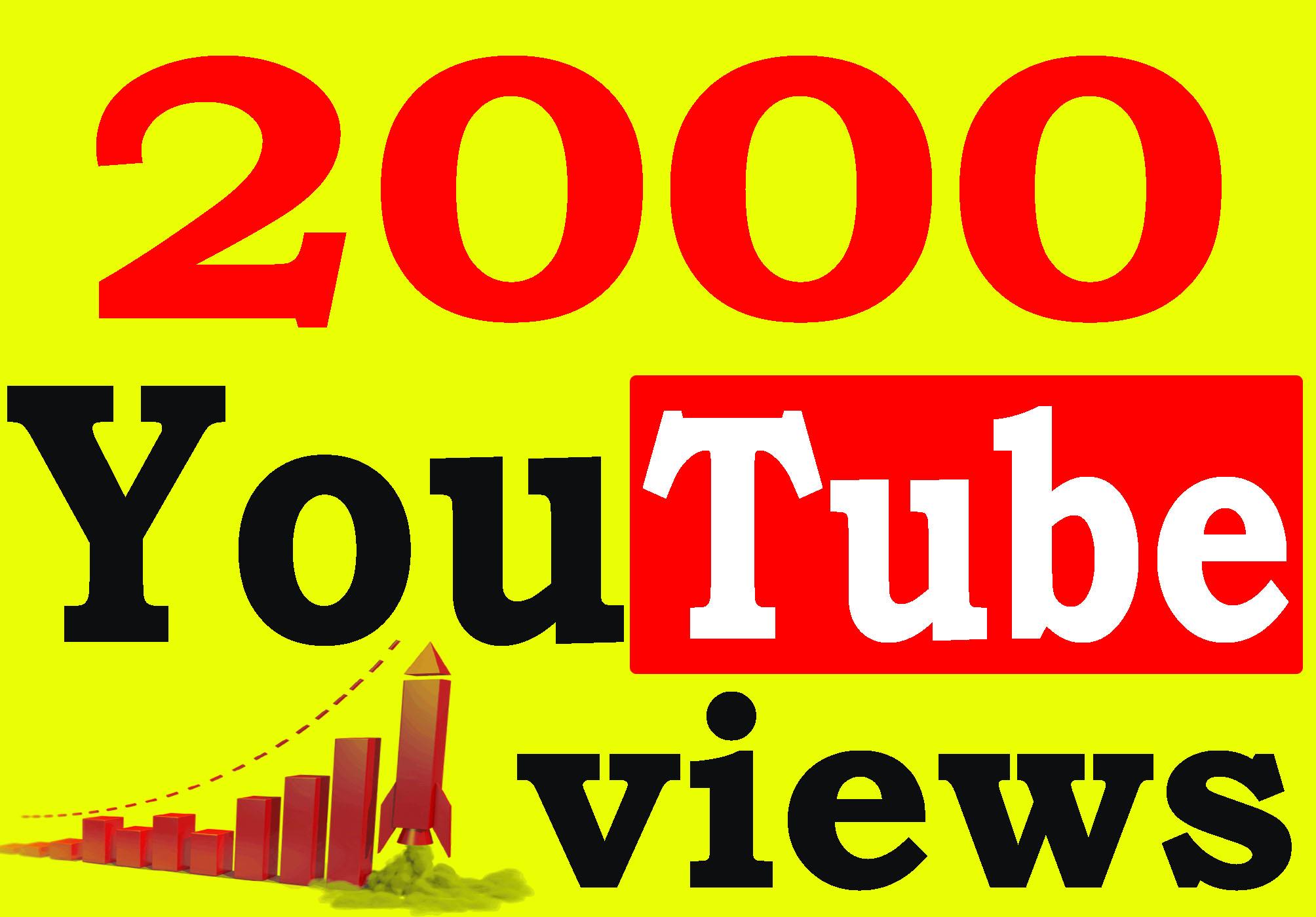 Fast 2000 To 3000 High Retention 90 To 100 Percent Non Drop Guarantee Vi ews
