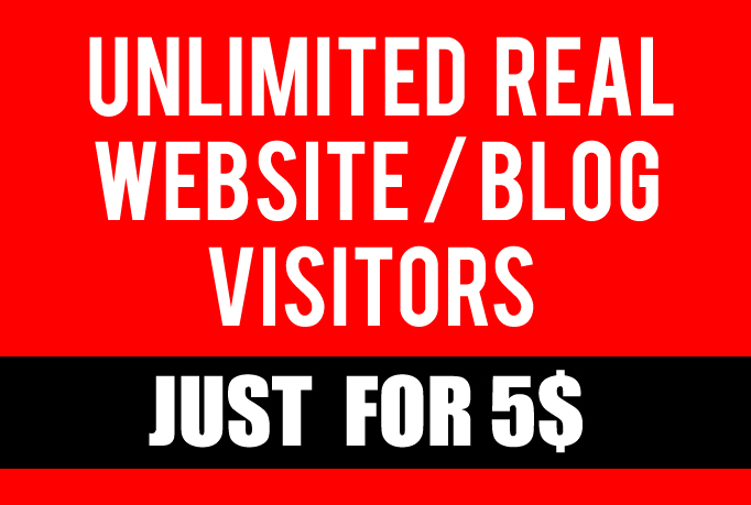 Drive Real Unlimited Premium Web Traffic On Website Or Blog