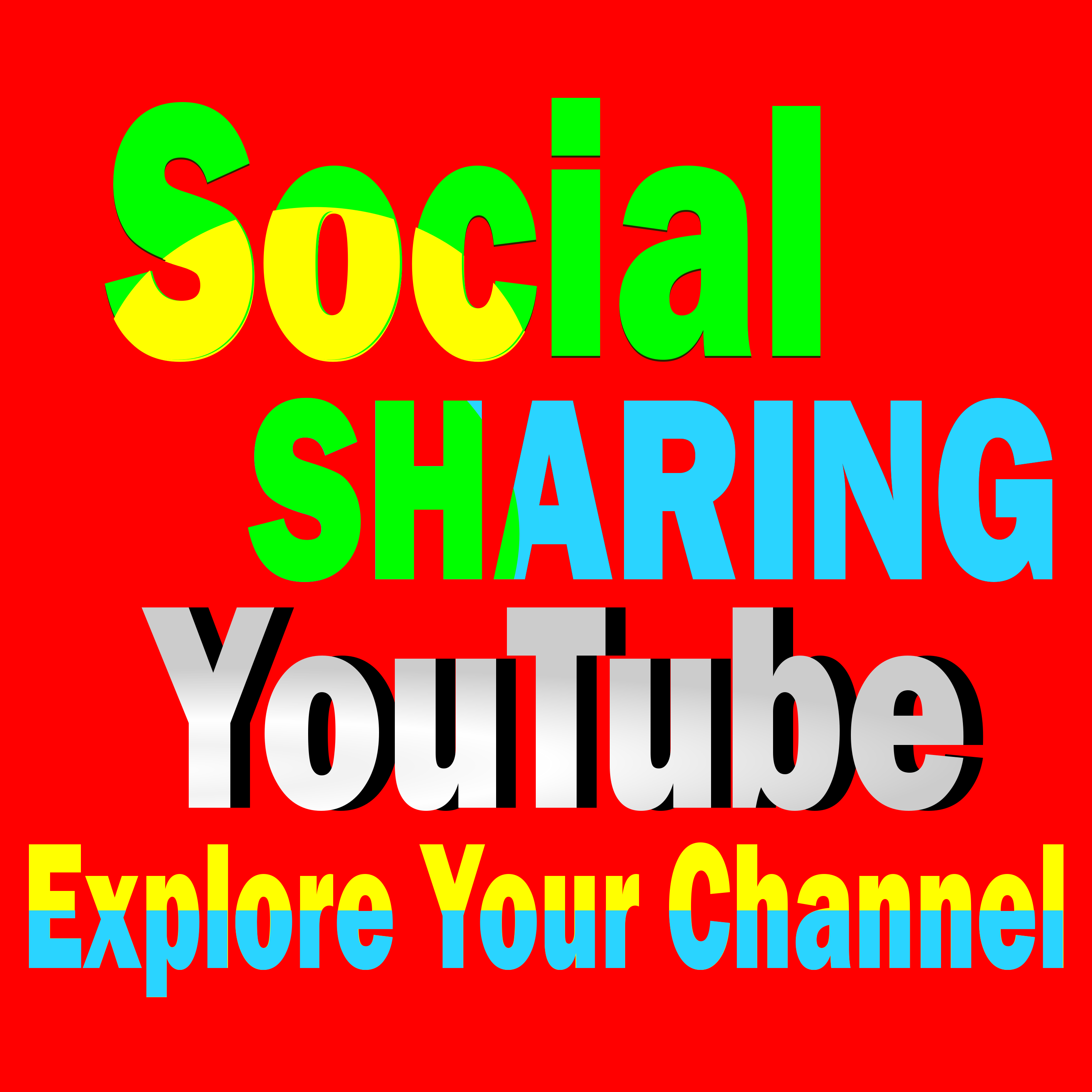 Deliver 500+ Social Media Shares to your YouTube video