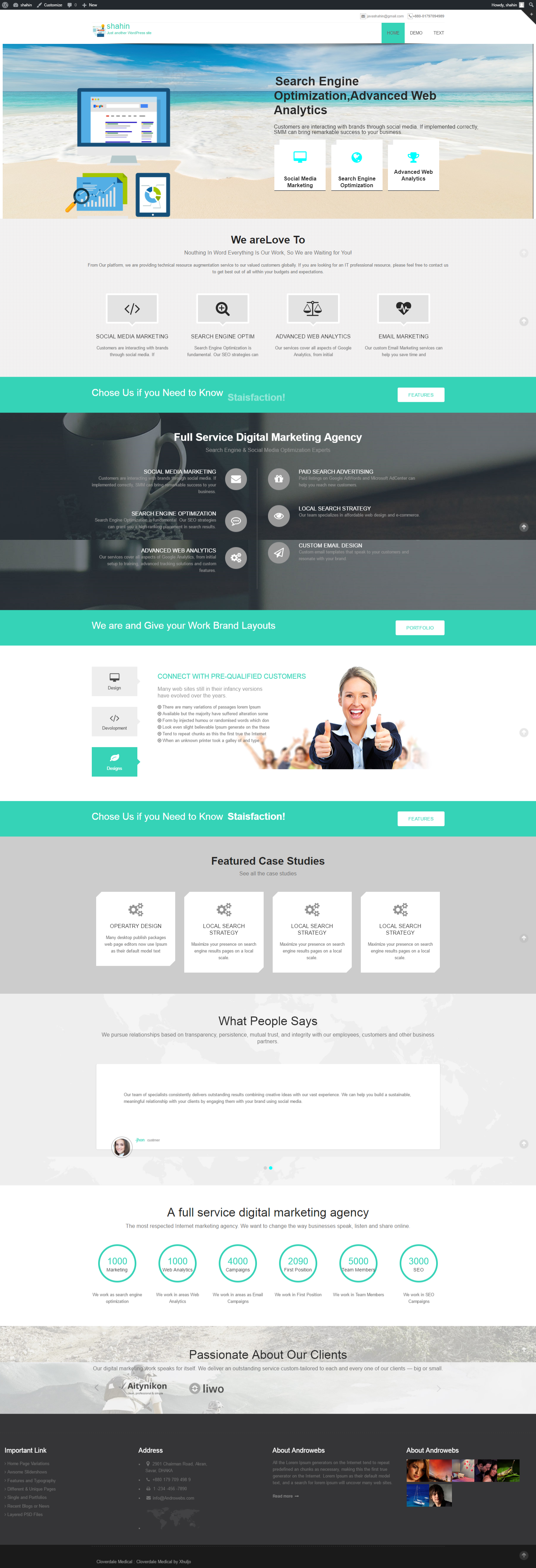 Seo Agency Wordpress Theme full responsive