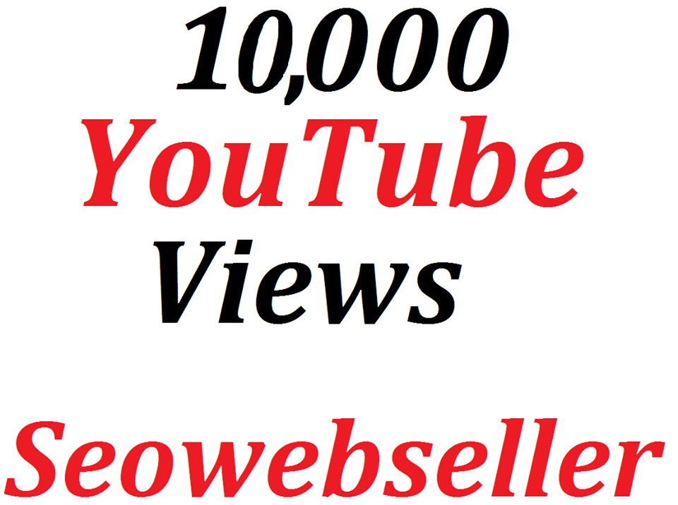 Give you 10,000+ Y0U TUBE VIEWS 15 days Refill Guarantee