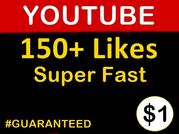 150+ Youtube Likes NonDrop Guarantee (Superfast Delivery)