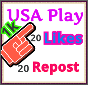 Get 1000 USA PIay 20 Iikes on your track for Real Looking Promotion