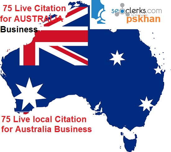 Create Australia Live 75 Local SEO Citation For Australia Business