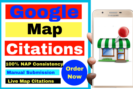 I will Do Manually 150 google map citations for local SEO