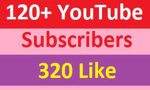 120 Safe Real Subscribers or 300 Real Like Also big bonus real on your  YouTube channel for video