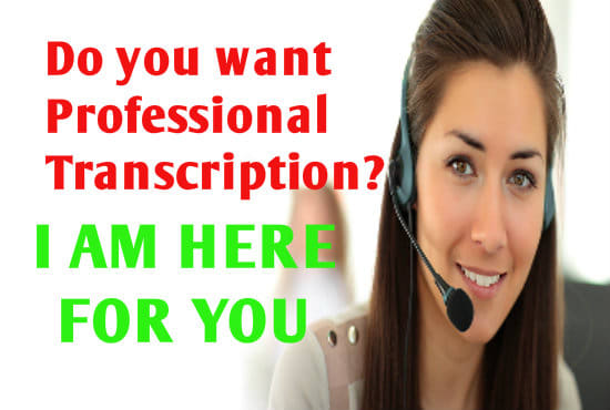 Transcribe 30 Mins Female Audio And Video In 24 Hrs