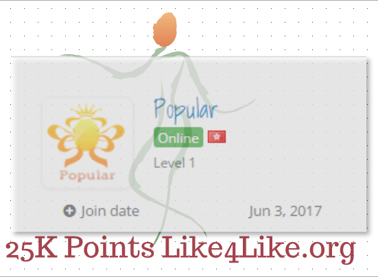 Big Offer For Big like4like Points lovers 25k Credits
