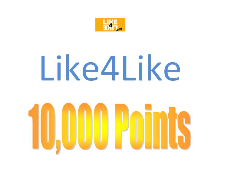 Like4Like Account [10k Points]