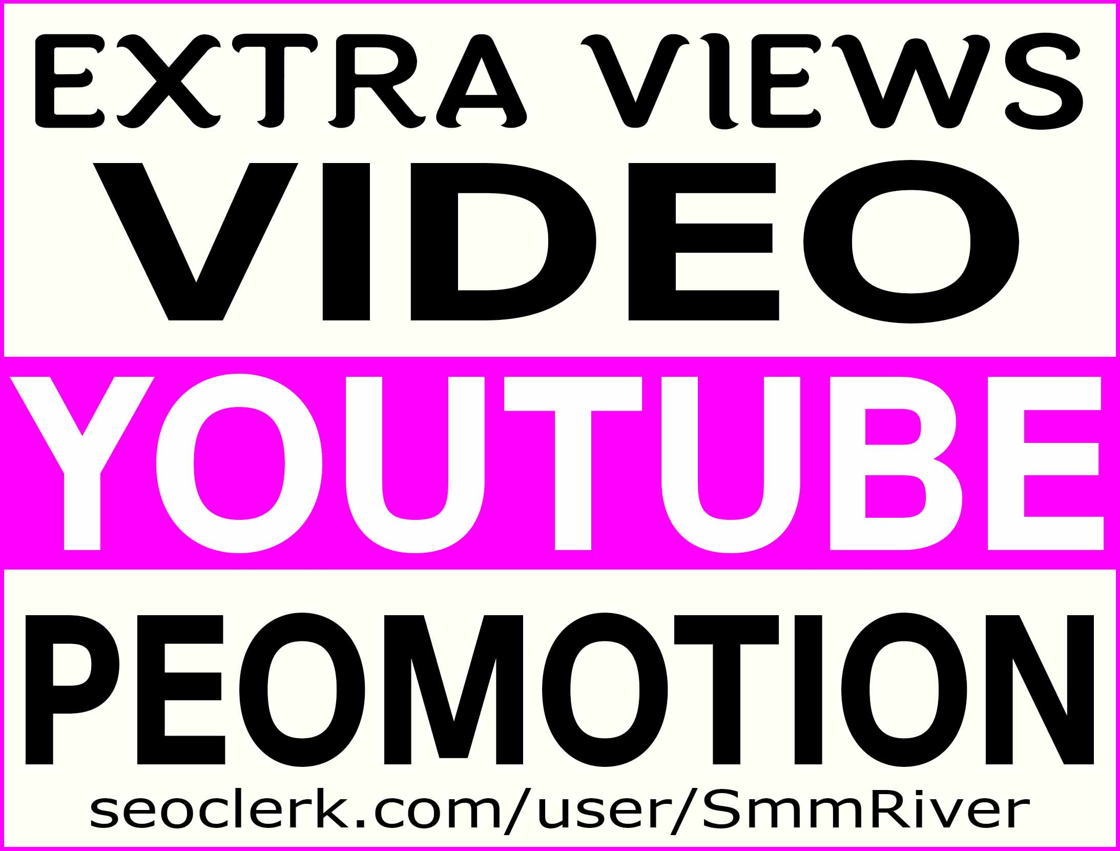 YOUTUBE VIDEO PROMOTION NON DROP & HIGH QUALITY INSTANT START