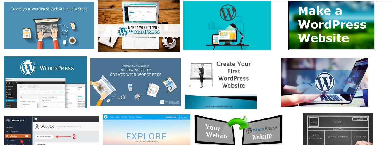 Create a website with WordPress. Easy for newbie also...