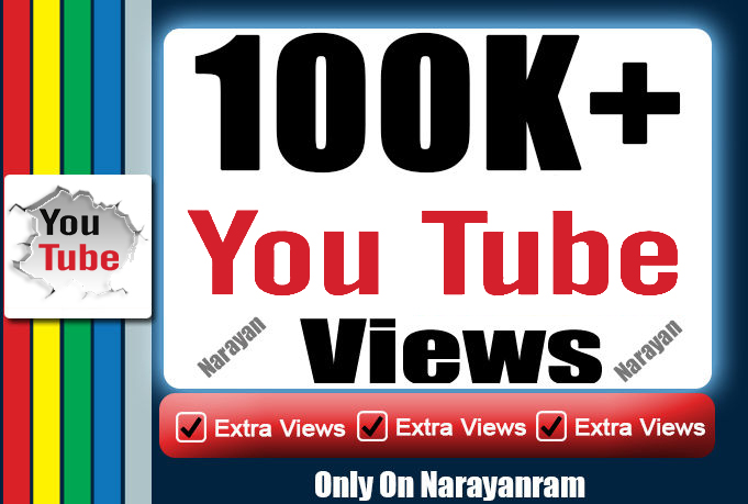 Get 100000 (100k) High Quality YouTube Vie'ws