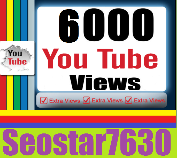 HQ Quality 6.000 You♡Tube View.s  OR 450 You♡Tube Lik-es Add  only