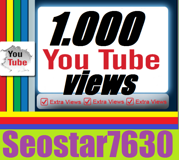 1.000 To 1.500 You-Tube View.s+15 Video Likes Only