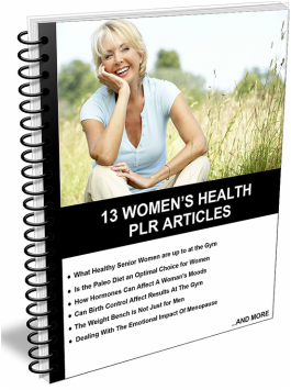 13 Womens Health PLR Articles
