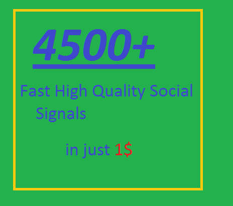 Super offer 4500 HQ Mixed Seo Social Signals from PR9 Googleplus pinterest