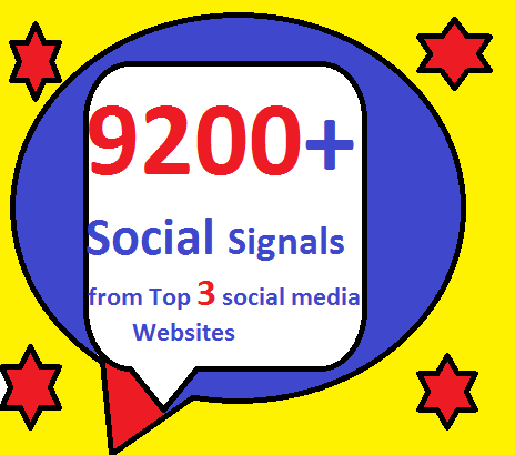 9200+ HQ Mixed Seo Social Signals from Top 3 social media sites PR9 Googleplus pinterest