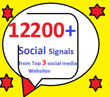 12200+ HQ Mixed Seo Social Signals from Top 3 social media sites PR9 Googleplus pinterest