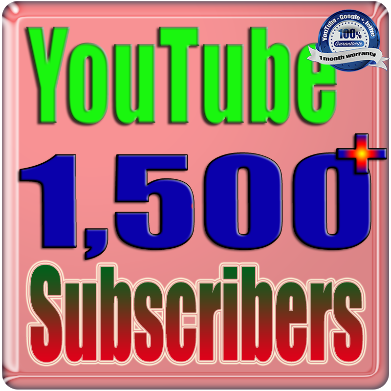 We Will Add 1500+ Real Subscribers You;Tube Safe Fast and Non Drop