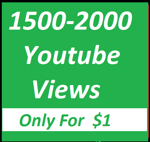 Fast 1000-1500 High Quality YouTube Views Give You in 24 hours