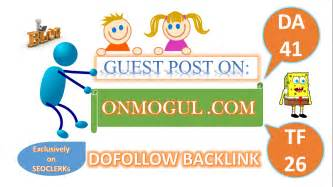 Write and publish a guest post onMogul