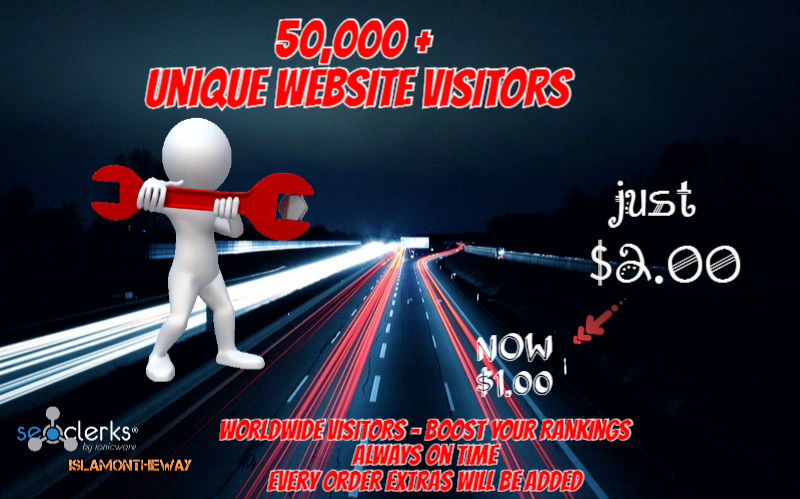 Website traffic 61,000+ visitors - Boost your website traffic and rankings