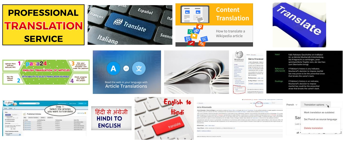 Translate article to any language