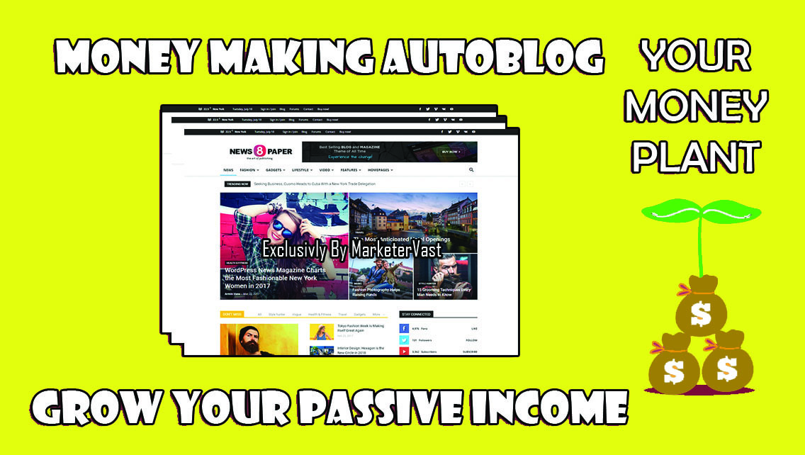 Create Unique Adsense Ready Wordpress Autoblogging Website