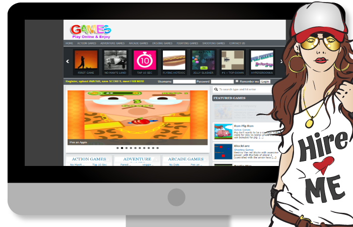 Create Online Games Website with 1000 Games