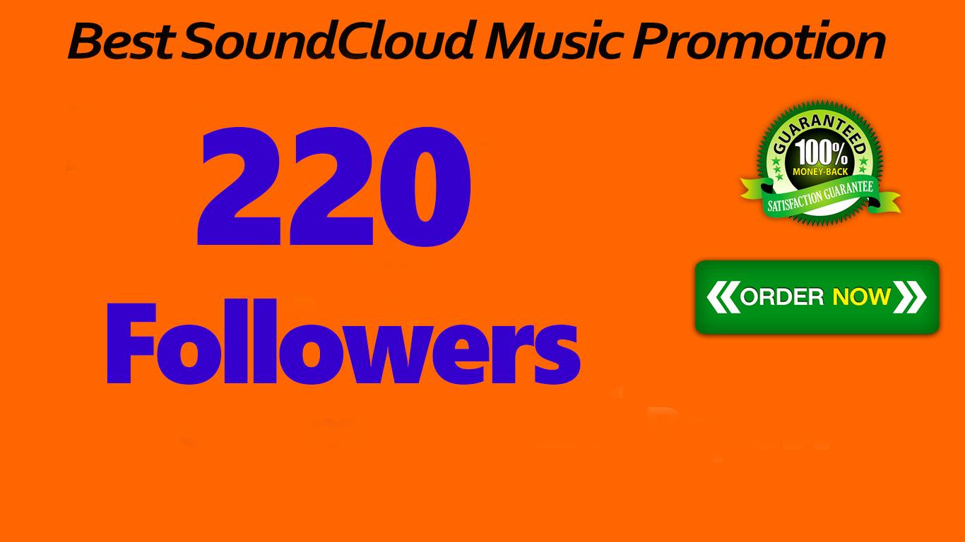 220 SoundCloud Followers
