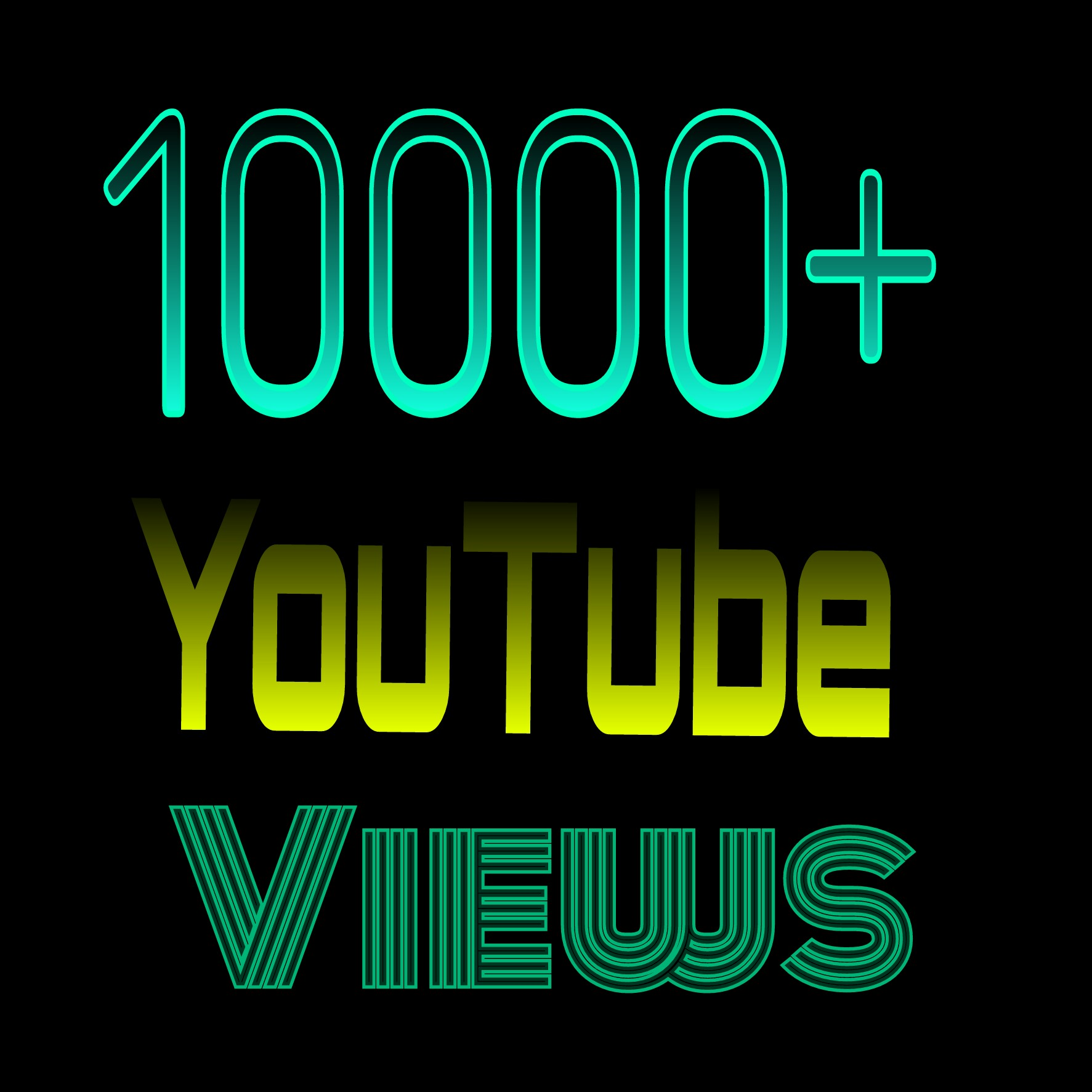 Permanent & Human Verified Active 10,000 +YouTube Views 400  likes  20 custom comments