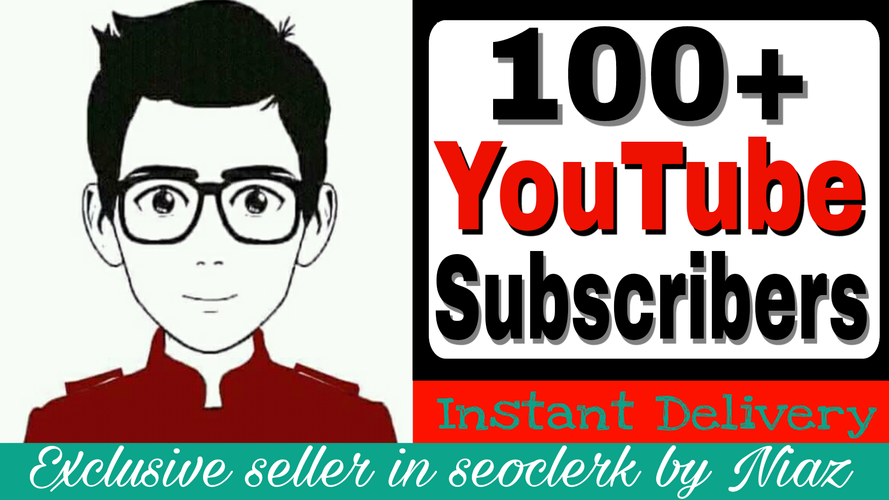 Exclusive offer 100+ subscriber on your  channel completed within 2 hour